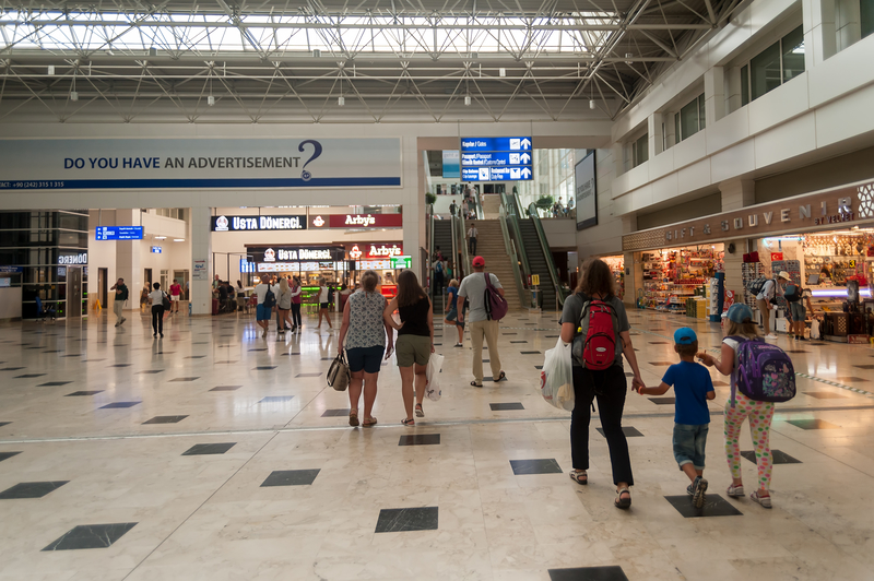 Antalya International Airport has three terminals: Terminal 1, Terminal 2 and Domestic Terminal.